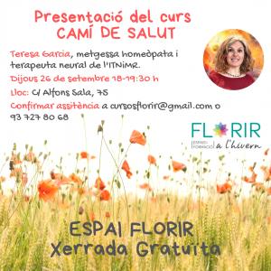ESPAI FLORIR - Charla Camino de Salud